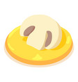 mushroom icon isometric 3d style vector image vector image