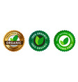 organic food fresh from nature stamp label sticker vector image