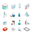 Pharmacy Isometric Icons Set vector image