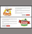 pizzeria and italian pizza vector image vector image