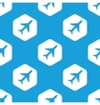 Plane hexagon pattern vector image vector image