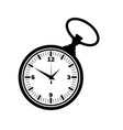 pocket watch silhouette vector image vector image