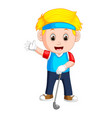 profesional boy playing golf vector image