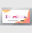 relocation moving to new house website landing vector image vector image