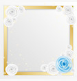 rose flower greeting card with square space to vector image vector image