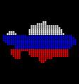 russia colors dot kazakhstan map vector image vector image