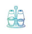 salt and pepper containers silhouette gradient vector image vector image