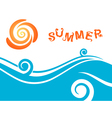 Sea and Sun Summer Background vector image vector image