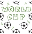 Seamless pattern with text World cup vector image