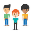 set avatars men of different diversity over white vector image vector image