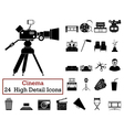 Set of 24 Cinema Icons vector image