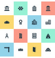 set simple structure icons vector image vector image