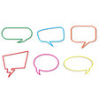 set speech balloon vector image vector image