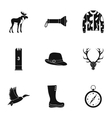 Shooting at animals icons set simple style vector image vector image