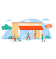 shopping and buyers scene vector image
