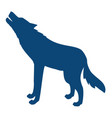 silhouette wild wolf vector image vector image