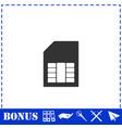 sim card icon flat vector image