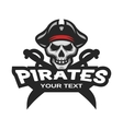 Skull pirates and swords Mascot logo