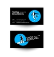 Snowboarding business card template vector image