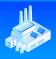 solar panel smart building icon isometric style vector image vector image