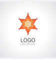 star bright technology logo vector image vector image