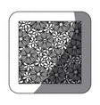sticker monochrome background with contour flowers vector image vector image