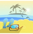 summer beach slippers and vector image vector image