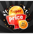 Super price Sale banner Advertising flyer for vector image vector image