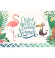 Text enjoy every moment of summer vector image vector image