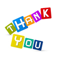 Thank You Colorful Icons vector image vector image