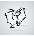 The stylized image of a dragon Tattoo vector image vector image