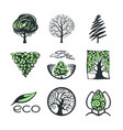 tree logo collection vector image vector image