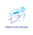 unlimited credit card options workflow growth vector image