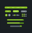 user interface set for website development vector image vector image