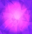 Violet triangle background vector image vector image