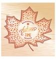 Wooden Autumn banner vector image vector image