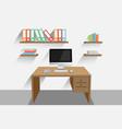 work desk vector image vector image
