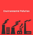 environmental pollution with factory silhouette vector image