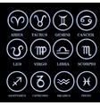 Set zodiac sign in circle frame vector image