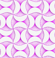 3D purple striped pin will vector image vector image