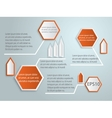 abstract 3d tag infographics vector image vector image