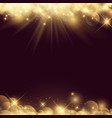 abstract background with stars and bokeh lights vector image vector image