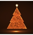 Abstract Christmas tree Eps vector image