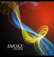 abstract smoke isolated on blue background vector image