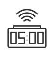 alarm clock icon pixel perfect design editable vector image vector image