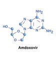 amdoxovir treatment of hiv aids vector image vector image
