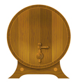 Ancient oak barrel vector image vector image