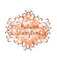 autumn background orange paint splash on white vector image vector image