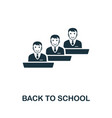 back to school icon symbol creative sign from vector image