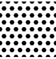 black hexagons monochrome seamless pattern vector image vector image